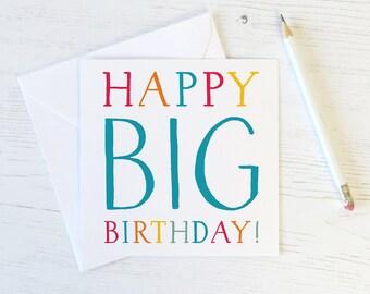 Funny Big Birthday Card - 40th - 50th - 60th - 70th - 80th - funny birthday card friend - milestone birthday - card for dad - sister card