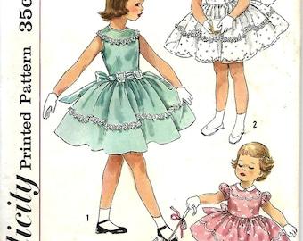 1950's Girls One-Piece Dress Or Communion Dress Pattern, Simplicity 1900 Size 2