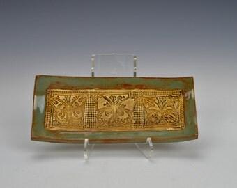 Butterfly dish, ceramic trinket dish, stoneware tray, jewelry dish