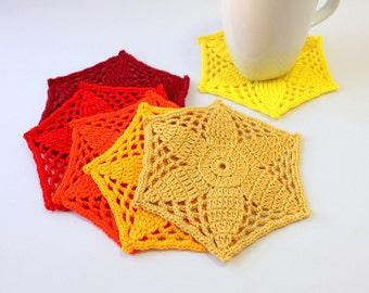 Crochet Coaster PATTERN Mosaic Flower Coasters DIY Crafts Crochet Home Decor DIY Gift Instant Download Pdf Pattern No.192 by Lyubava Crochet