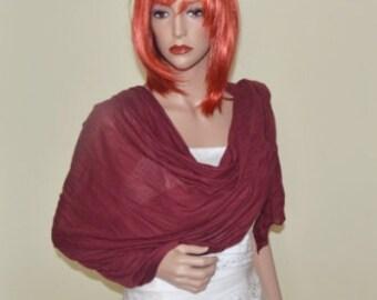 Maroon Wedding Shawl, Maroon cape, wedding wrap, shawl, shrug, capelet, wedding shawl