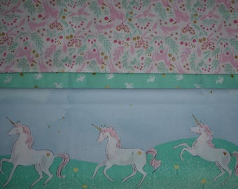 Pillowcase, girls, unicorns, 28x22, twin/standard, cotton, only one available, ready to ship