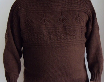 Guernsey -  Gansey - Handmade Fishermans  Guernsey Ray's Guernsey - Mens Sweater - Handmade Gansey  -Made to Order -  Handmade Mans jumper