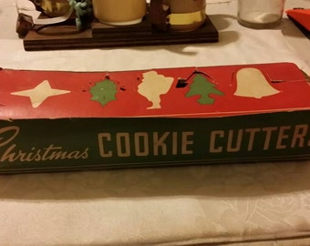 Vintage Christmas Cookie Cutters in Original Box - Set of Five