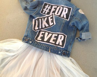 Denim restyled distressed