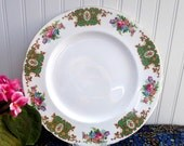 Shelley England Dinner Plate Green Empress Gainsborough Charger England Floral 10.75 Inches