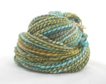 Handspun Rambouillet Yarn, Lengthy Fibre Drew, 102m / 112yd