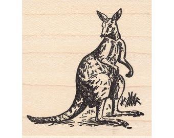 Kangaroo Stamp Etsy