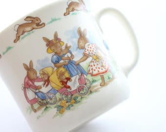 Vintage, Mug from Bunnykins by Royal Doulton, English Fine Bone China, Little Princess Birthday Gift Inspiration