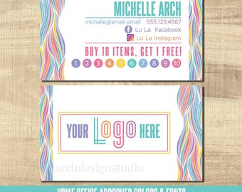 LuLa Business Cards, LLR Business Cards, Home Office Approved fonts, HO approved colors, LuLa Marketing Roe, LLR Bright, Squiggles, fun