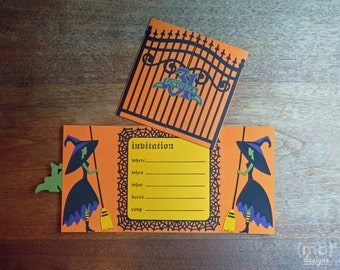 Halloween Gatefold Party Invitations Set of 12