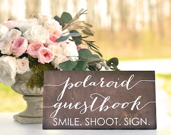 Polaroid Guest Book Sign, Polaroid Wedding Guest Book, Wedding Polaroid Guest Book, Polaroid Guestbook Sign, Photo Guest Book Sign, Wood