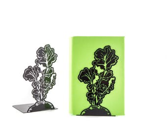 A pair of bright bookends Beetroot // Garden fan // Country style / housewarming present // kitchen bookends