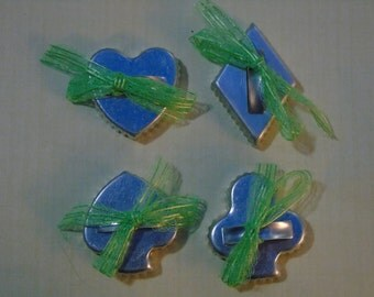 vintage bridge set of cookie cutters felt molds diamond heart spade club