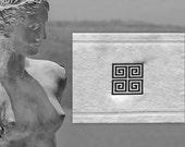 Greek Key BATH MAT-embroidered Tub mat- Greek Key embroidery- saying Bath Rug- cotton 700gr- Christmas gift- wedding gift-aniversary gift