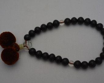 Buddhist mala prayer beads, vintage Japanese juzu