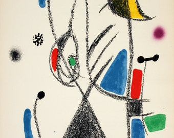 Joan Miro-Maravillas #1068-1975 Lithograph