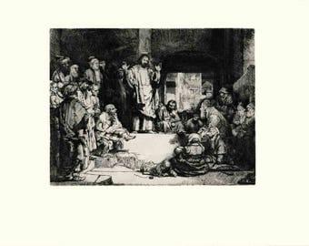 van Rijn Rembrandt-Christ Preaching (La Petite Tombe)-1968 Poster