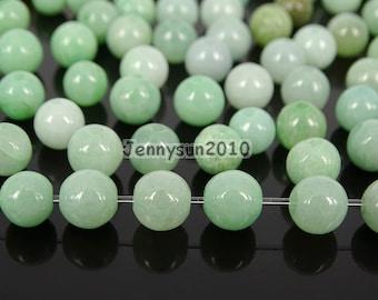 100Pcs Natural Jadeite Nephrite Jade Gemstones Round Loose Beads 5mm 6mm 7mm Jewelry Design