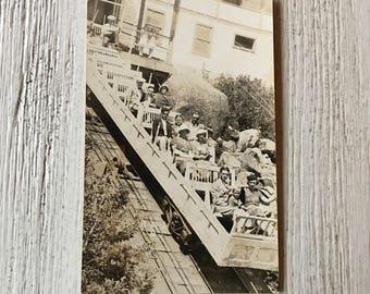 Mt. Manitou Scenic Incline Railway Souvenir RPPC Colorado