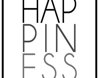 Happiness 8x10 Print