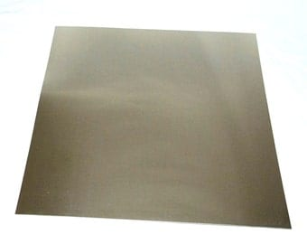 "Nickel Silver Sheet 26ga 12"" x 12"" .41mm Thick New Lower Price"
