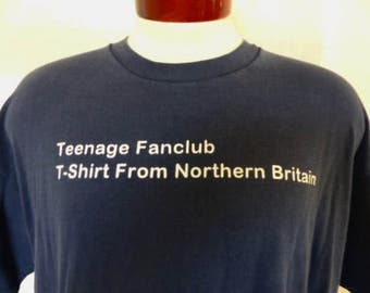 cheeky vintage 90's Teenage Fanclub T-shirt From Northern Britain navy blue graphic t-shirt alternative rock britpop concert album tee XL