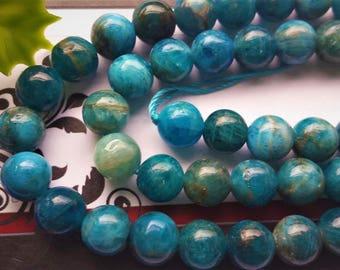 Natural Apatite Beads , Round, 8mm, full strand