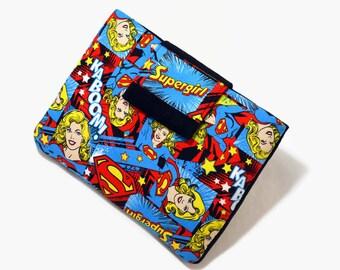 Tablet Case, Girl Power, iPad Mini Cover, Supergirl, Feminist, Women's Power 7, 8  inch Sleeve, Kindle  Cozy, FOAM Padding, Gift, Blue