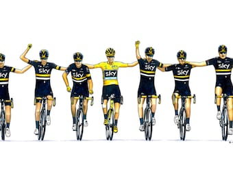 Chris Froome - Team Sky - Tour de France 2016 Greeting Card, DL size