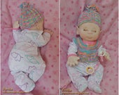 "Fretta's Newborn Baby Doll. Textile Empathy Baby. Pacifier Baby. Life Size Realistic looking jointed 50.8 cm /20"" Soft Sculpture Doll"