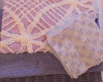 Vintage Chenille Bedspread Fat Quarters Quilt Kit