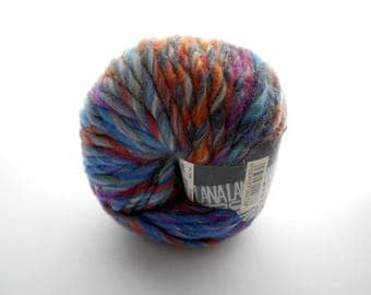 Color-Changing Wool Yarn, Colore by Lana Grossa, Bulky-Weight Yarn, Mostly Blues