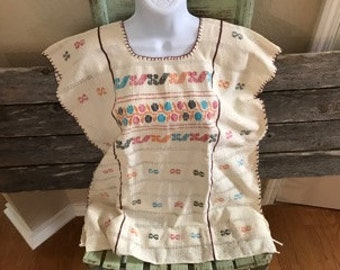 Authentic Mexican Handmade Loomed Blouse (Medium)