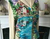 On reserve for L please do not purchase 40s Novelty Rayon Blouse