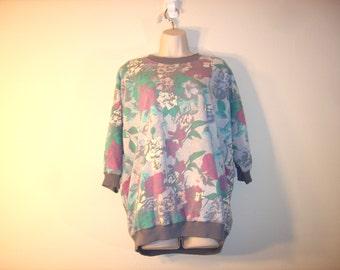 Vintage 1990s Pastel Floral Sweatshirt