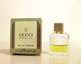 Vintage 1980s Gucci Nobile by Gucci 0.05 oz Eau de Toilette Mini Miniature COLOGNE
