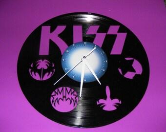 KISS Laser Cut Album Clock