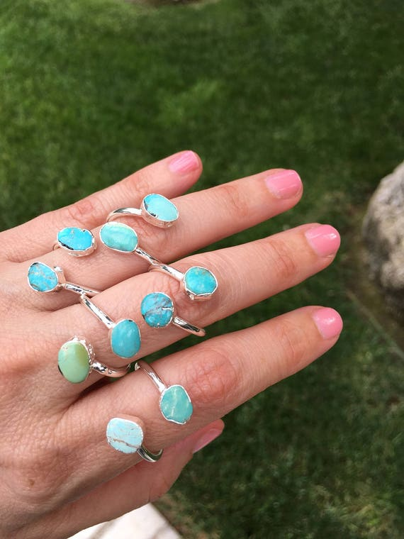 Turquoise ring, Turquoise jewelry, boho chic, sister gift