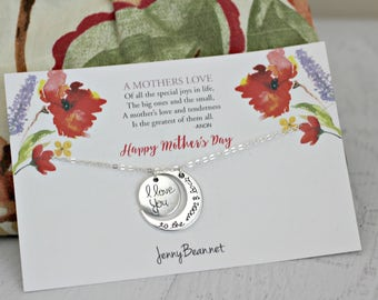 Mothers Day Card with Pendant Necklace