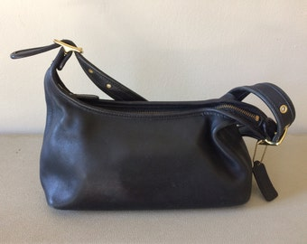 SALE coach black leather shoulder bag