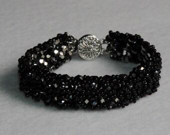 Superbe bracelet noir
