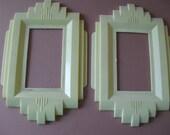 pr Art Deco plastic Gits Moulding light switch plates
