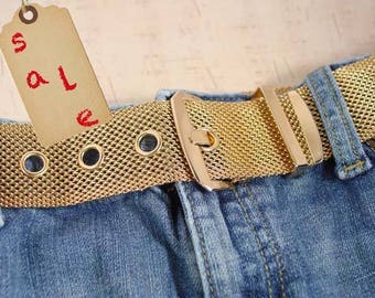 Sarah Coventry Gold Tone Mesh Belt  In Box - Vintage 1959