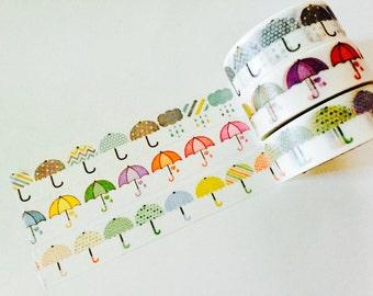 Umbrella Washi Tape in 3 Patterns