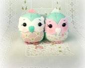 Minty Mini Owls Set