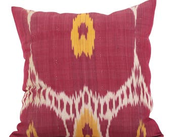 20 x 20 Pillow Cover Ikat Pillow Cover Old Ikat Pillow Cover Throw Pillow Decorative Pillow FAST SHIPMENT with ups or fedex - 09175