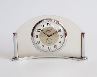 Vintage Table Clock Zlatoust Clock Factory, USSR Mantel Clock, Working 1950's Collectible Table Clock