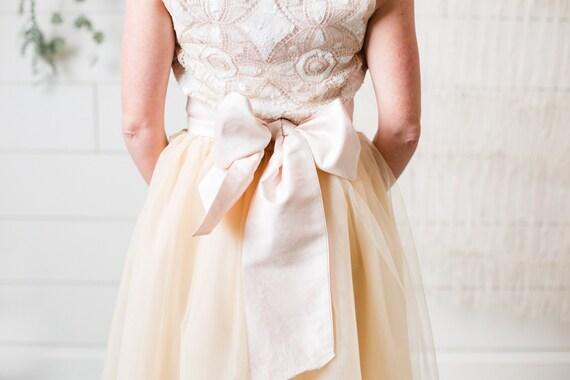 Simple Silk Bridal Sash