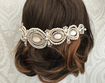 Art Deco headpiece - Bridal hair vine wedding headpiece - Bridal hair chain - Gatsby - 1920s  -  Gatsby headdress - Bridal hair - wedding